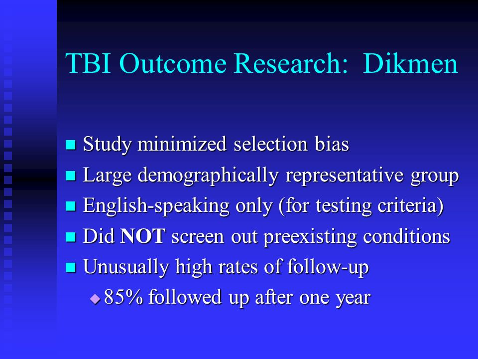 TBI Outcome Research: Dikmen