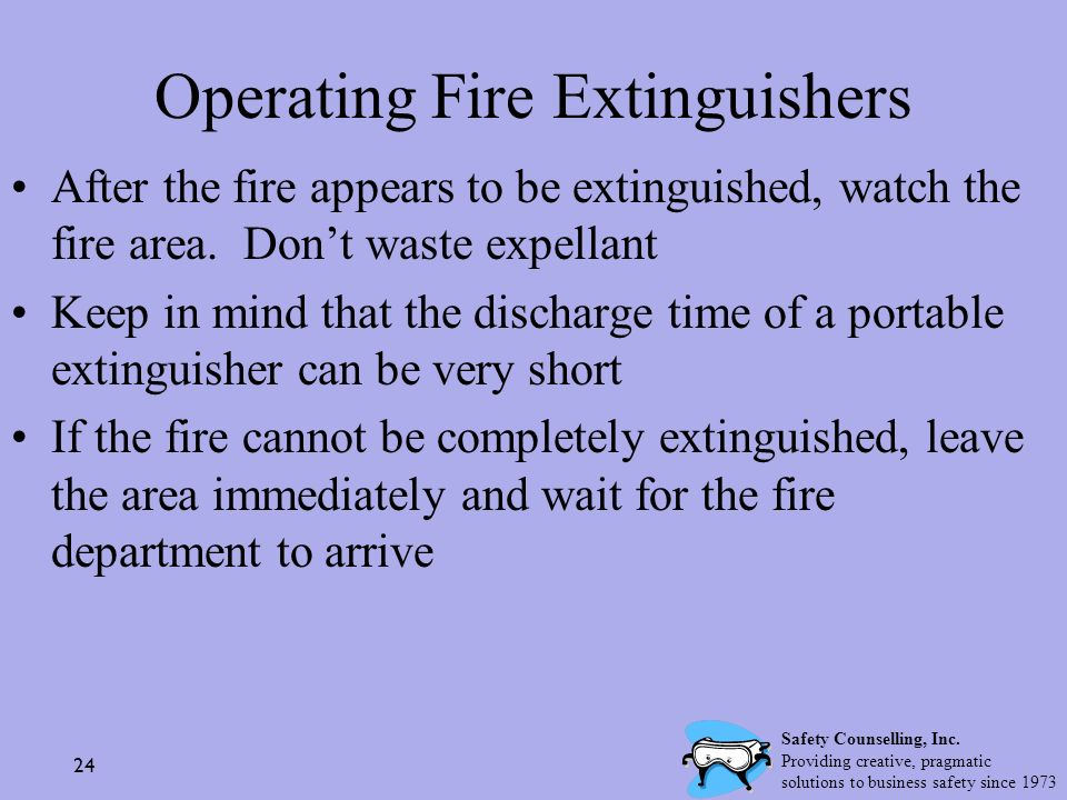 Operating Fire Extinguishers