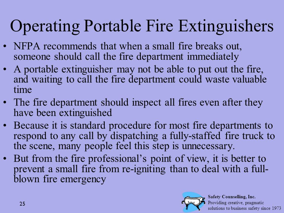 Operating Portable Fire Extinguishers