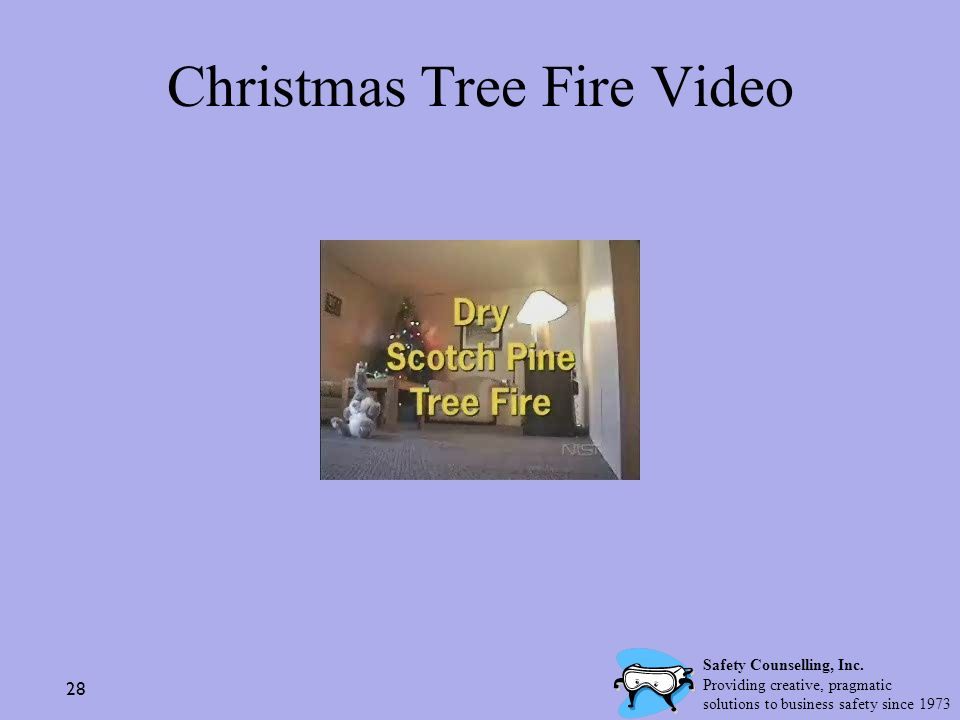 Christmas Tree Fire Video