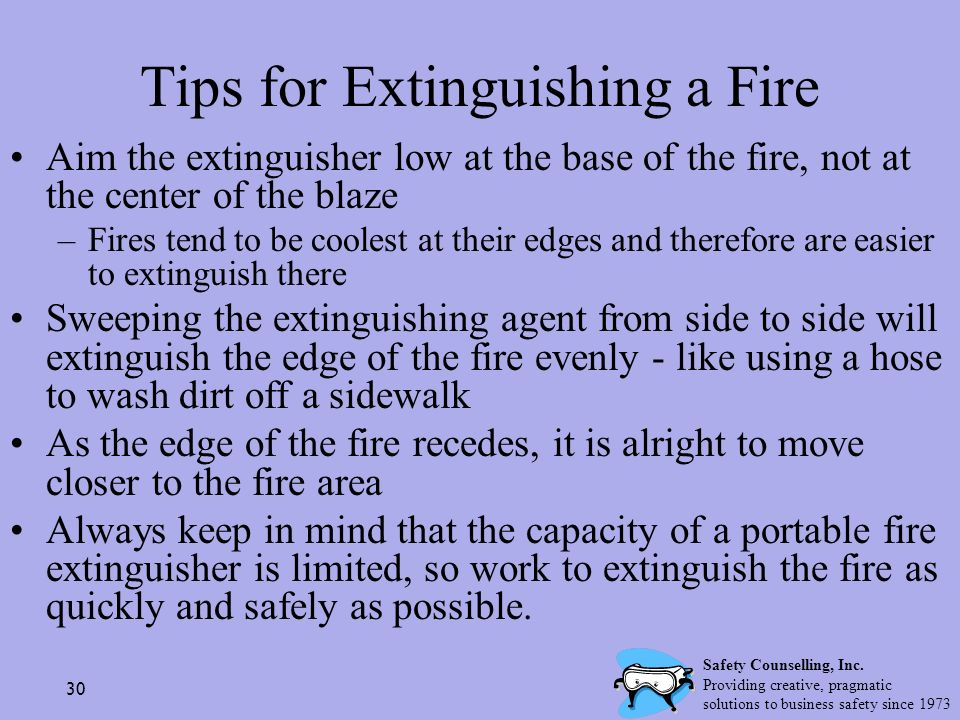 Tips for Extinguishing a Fire