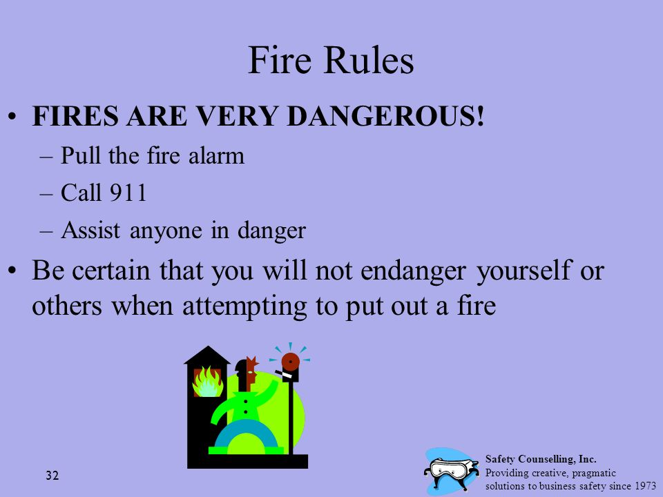 Fire Rules FIRES ARE VERY DANGEROUS!