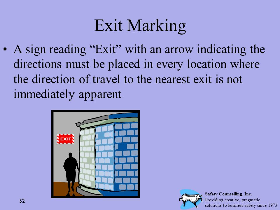 Exit Marking