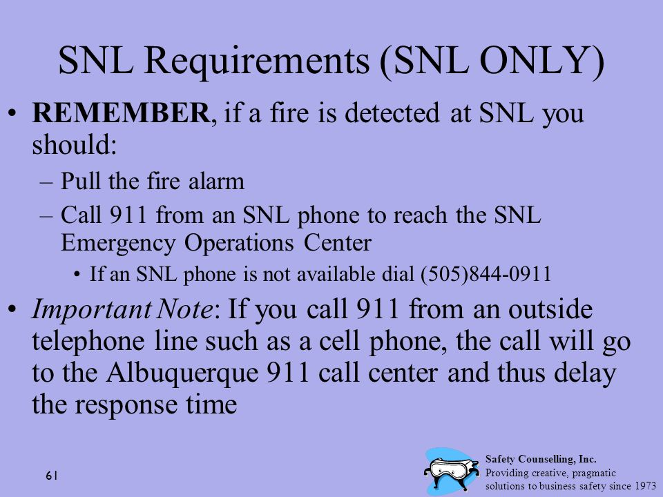 SNL Requirements (SNL ONLY)