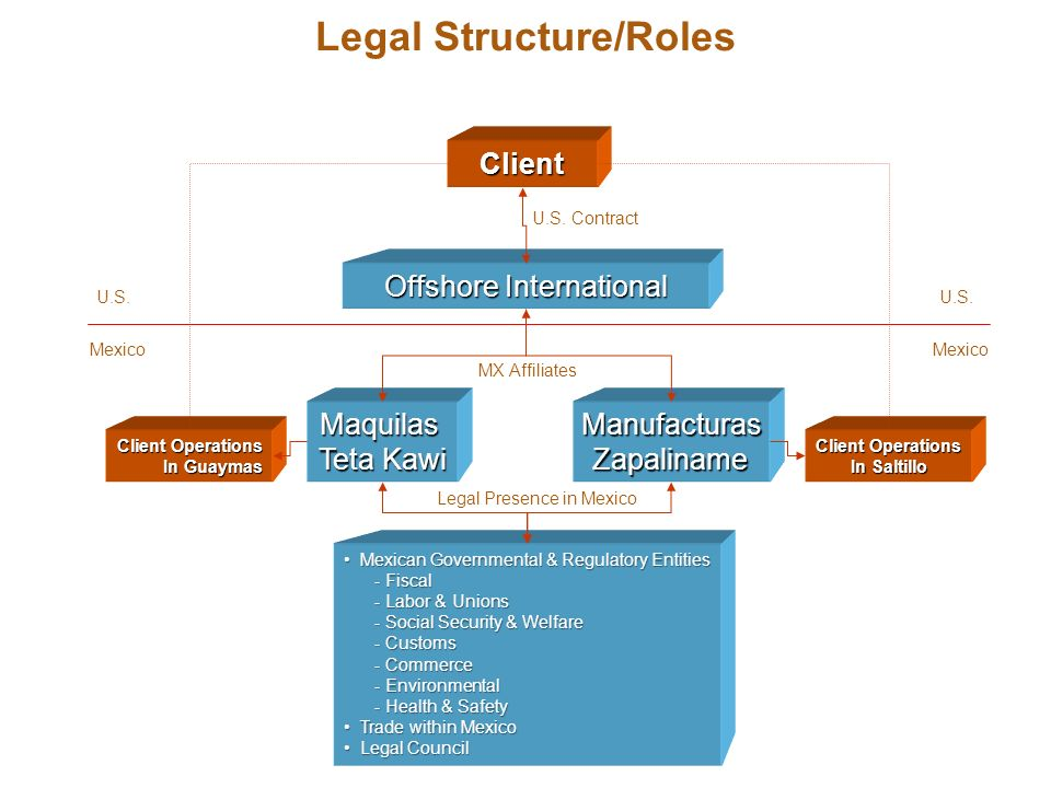 Legal Structure/Roles