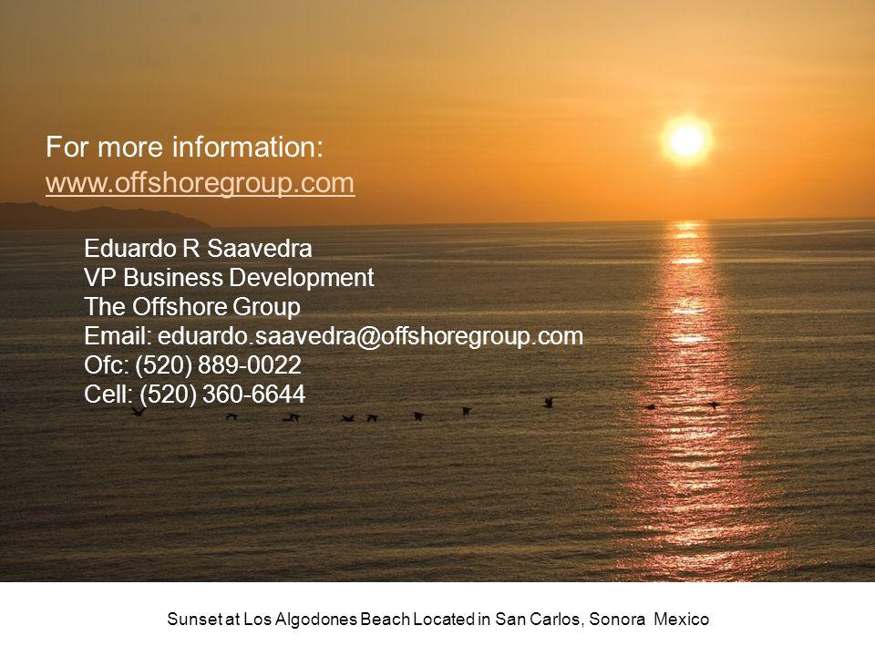 Sunset at Los Algodones Beach Located in San Carlos, Sonora Mexico