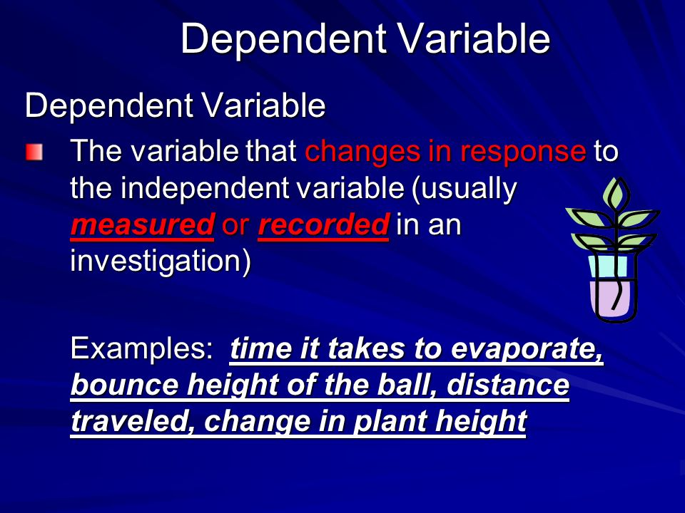 Dependent Variable Dependent Variable