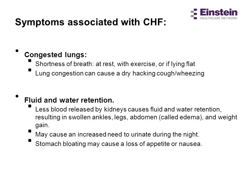 Fluid and water retention.
