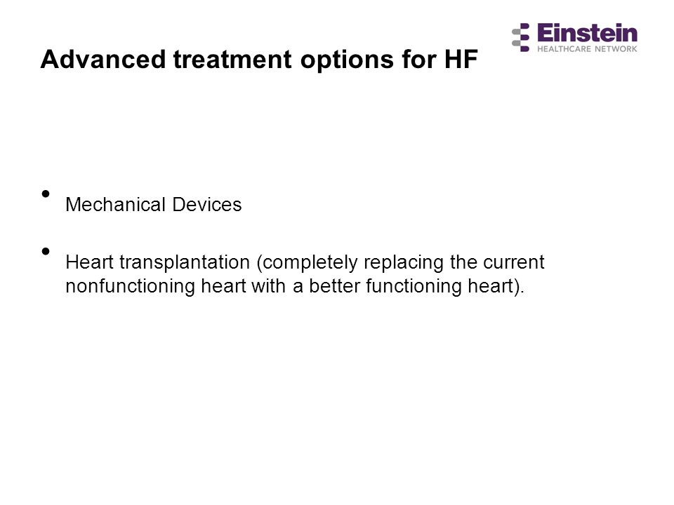 Advanced treatment options for HF