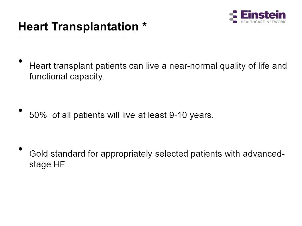 50% of all patients will live at least 9-10 years.
