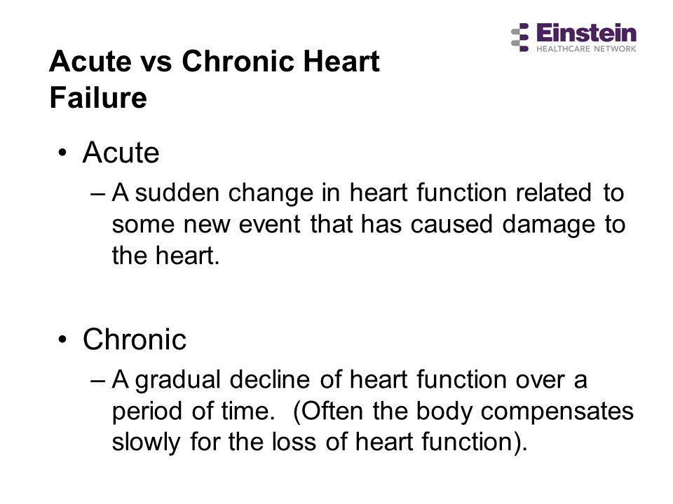 Acute vs Chronic Heart Failure