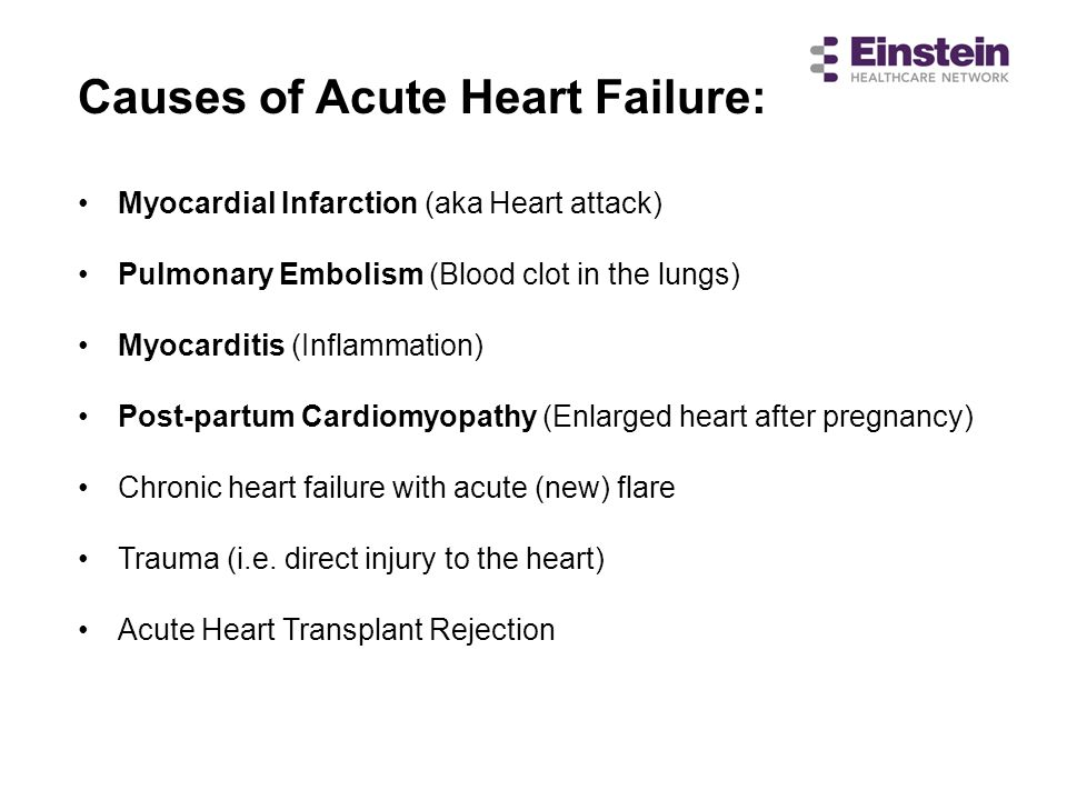 Causes of Acute Heart Failure:
