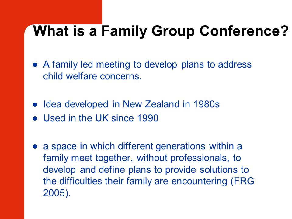 What is a Family Group Conference
