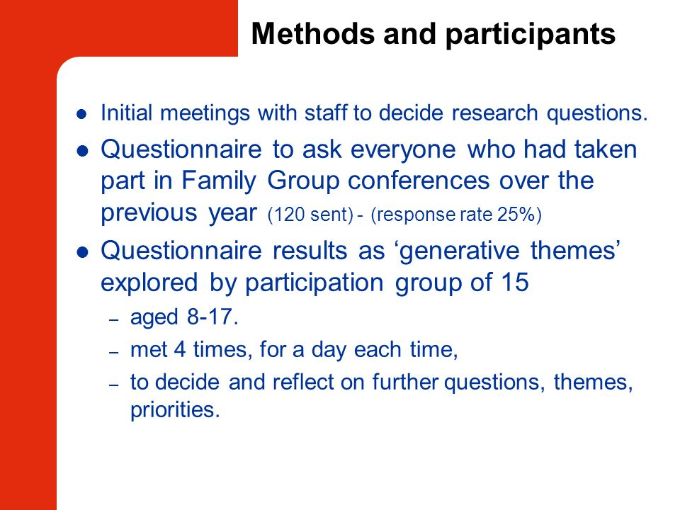 Methods and participants