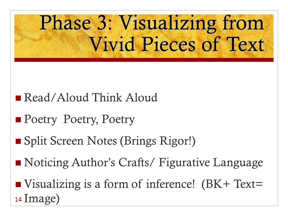 Phase 3: Visualizing from Vivid Pieces of Text
