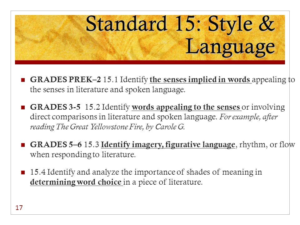 Standard 15: Style & Language