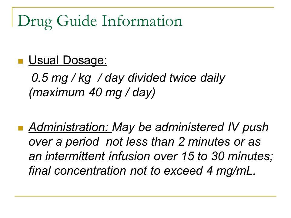 Drug Guide Information