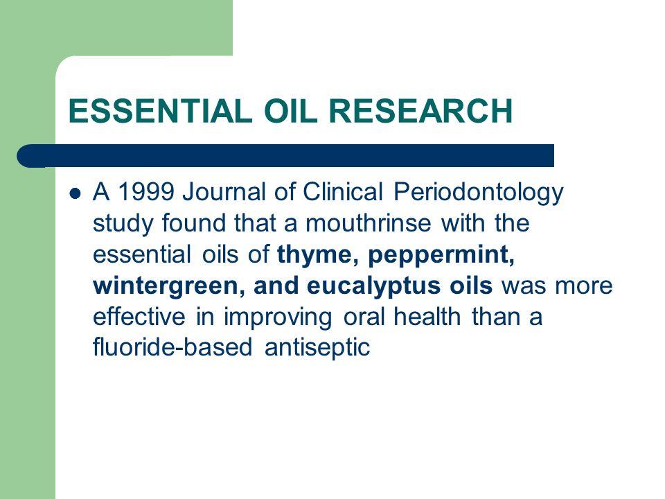 ESSENTIAL OIL RESEARCH