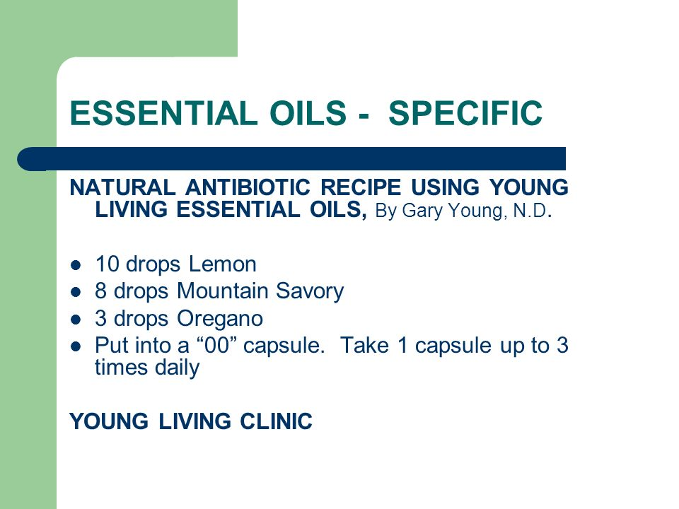 ESSENTIAL OILS - SPECIFIC