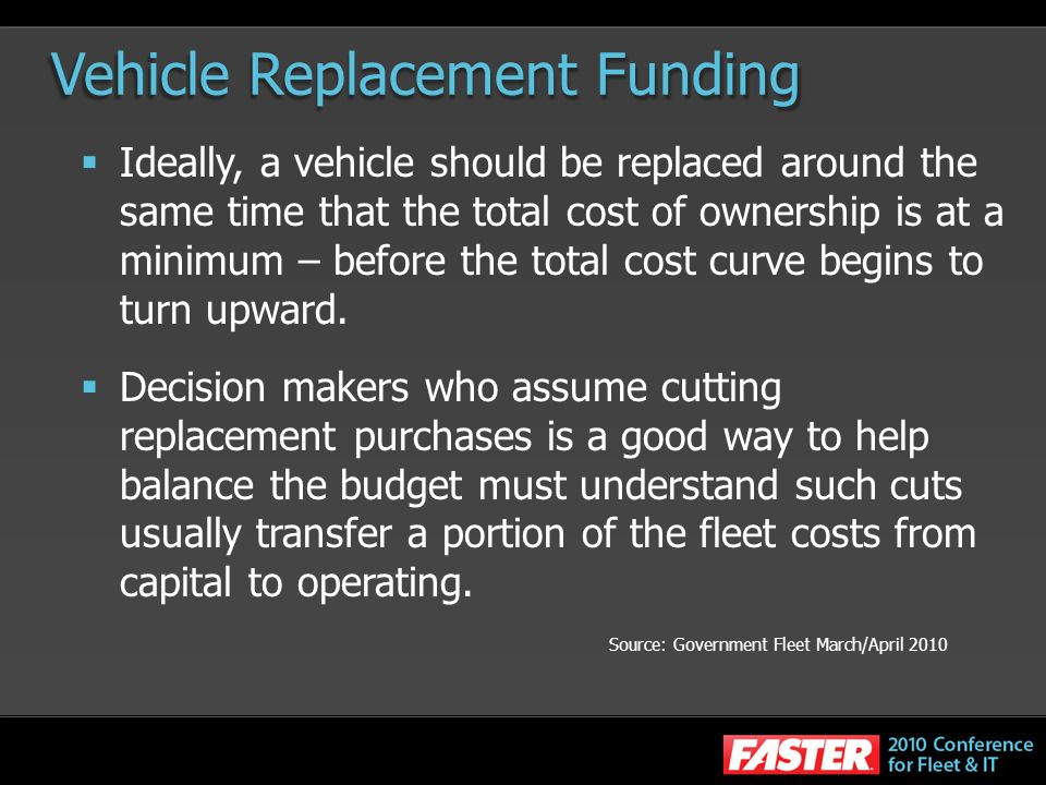 Vehicle Replacement Funding