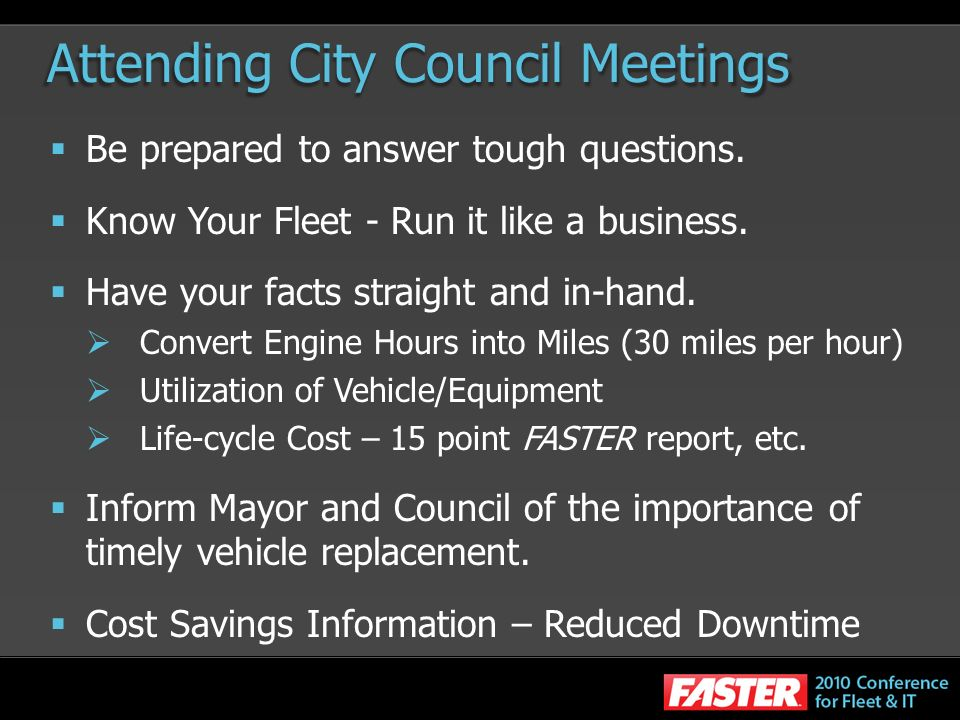 Attending City Council Meetings