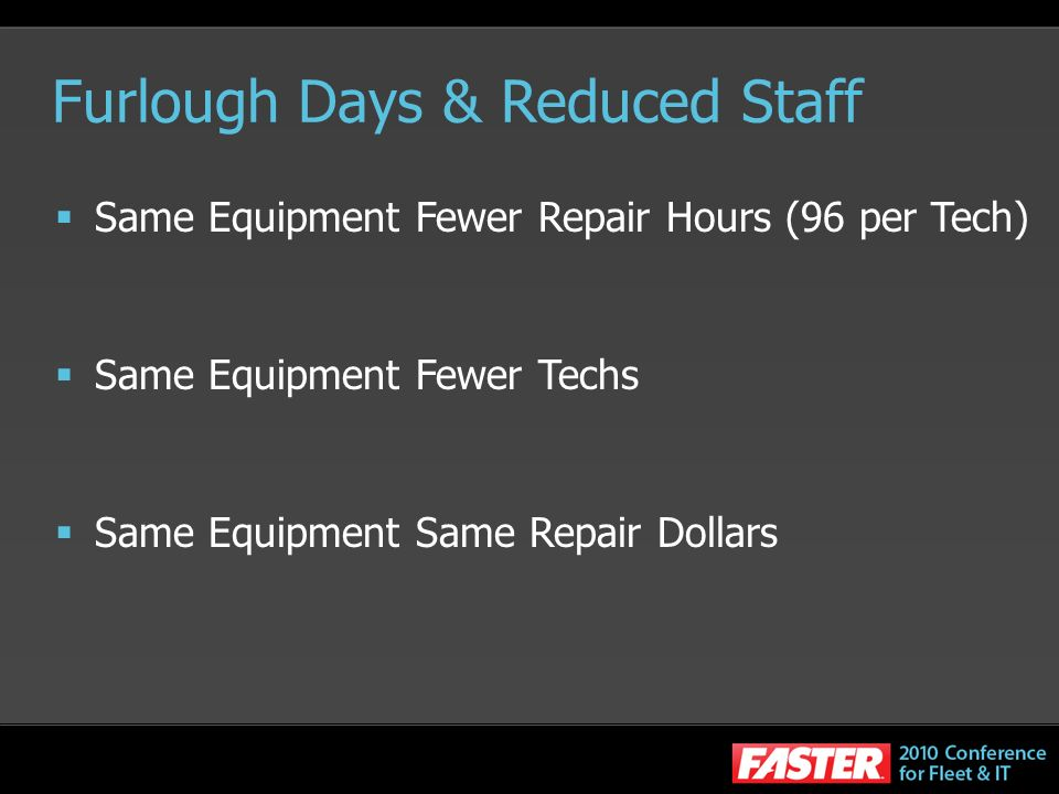 Furlough Days & Reduced Staff