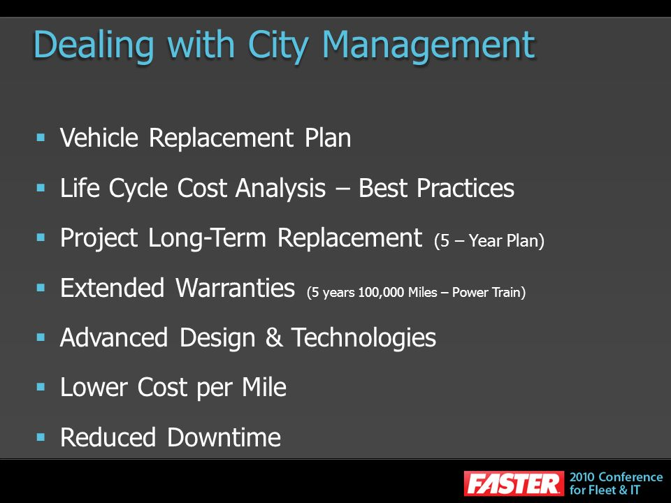 Dealing with City Management