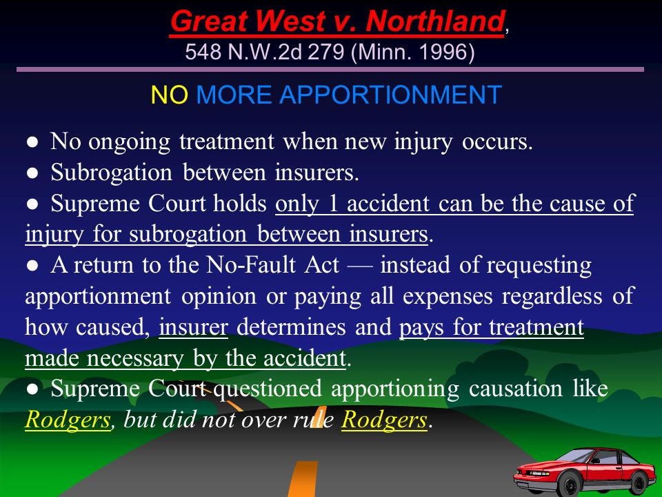 Great West v. Northland, 548 N.W.2d 279 (Minn. 1996)