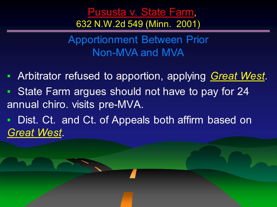 Pususta v. State Farm, 632 N.W.2d 549 (Minn. 2001)