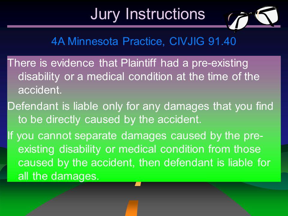 4A Minnesota Practice, CIVJIG 91.40