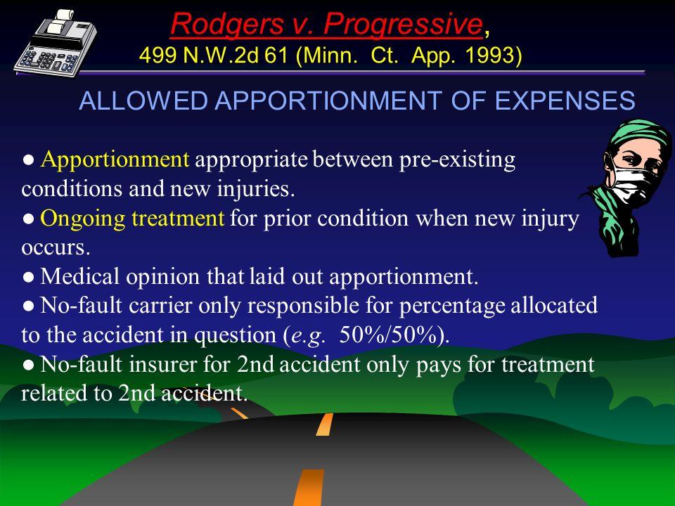 Rodgers v. Progressive, 499 N.W.2d 61 (Minn. Ct. App. 1993)