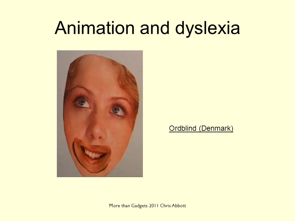 Animation and dyslexia