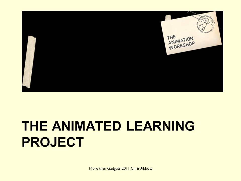 The animated learning project