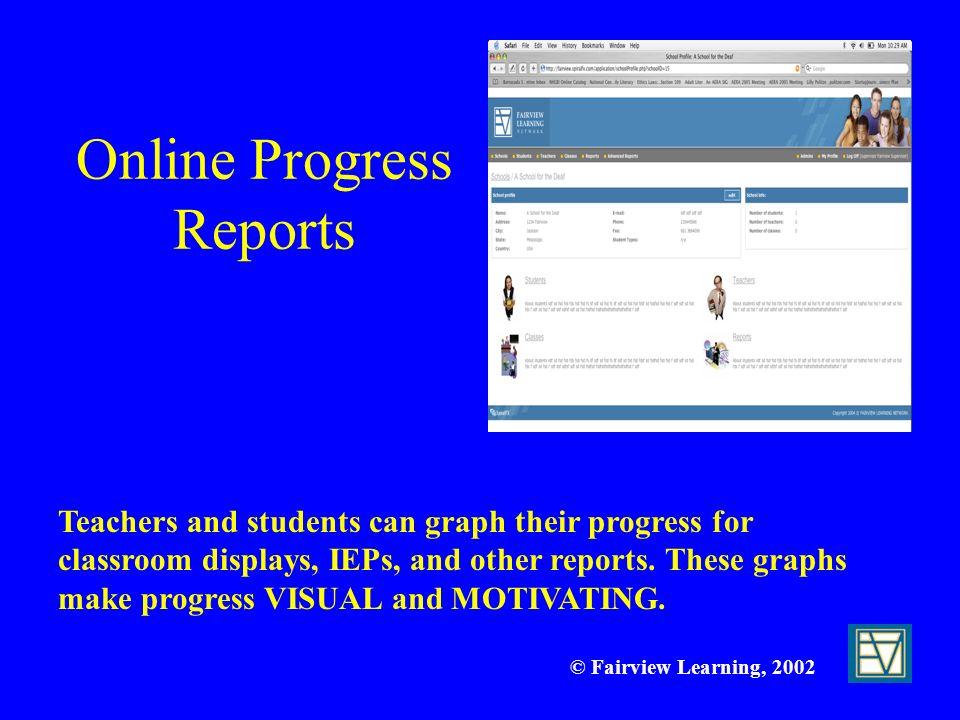 Online Progress Reports