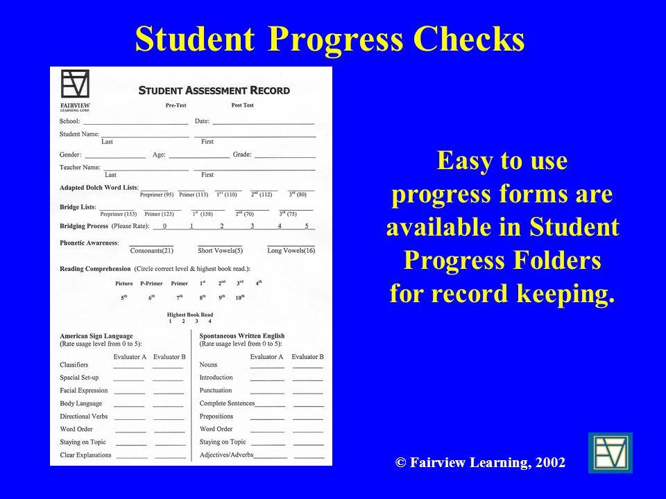 Student Progress Checks