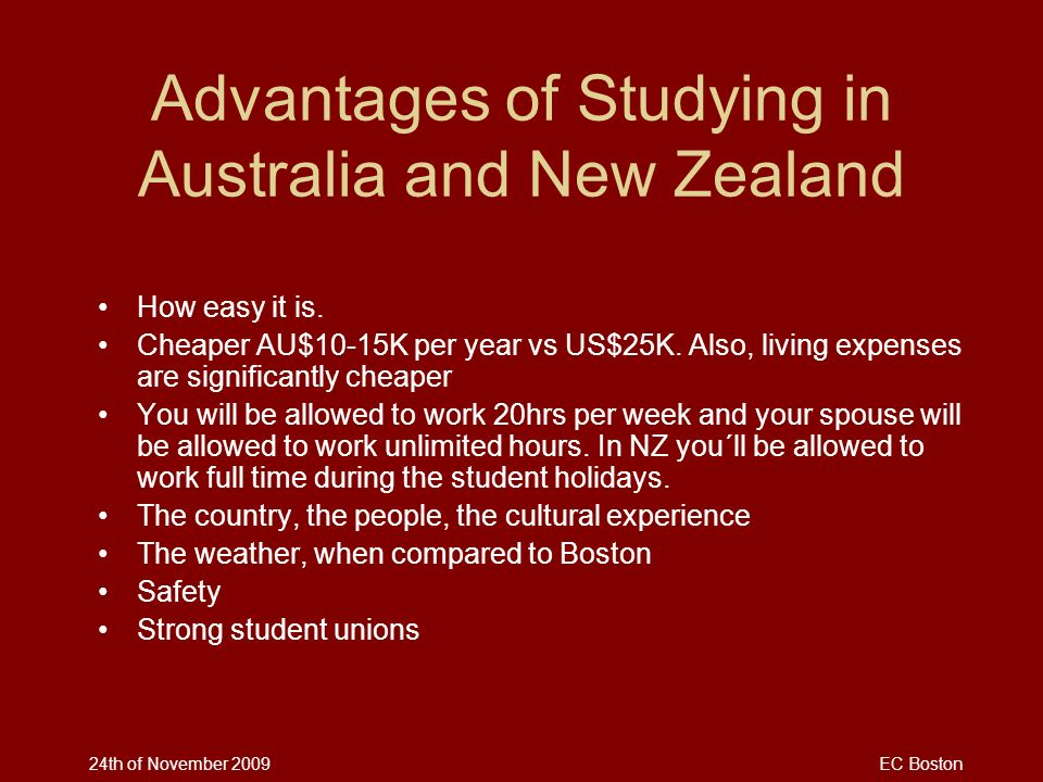 Advantages of Studying in Australia and New Zealand