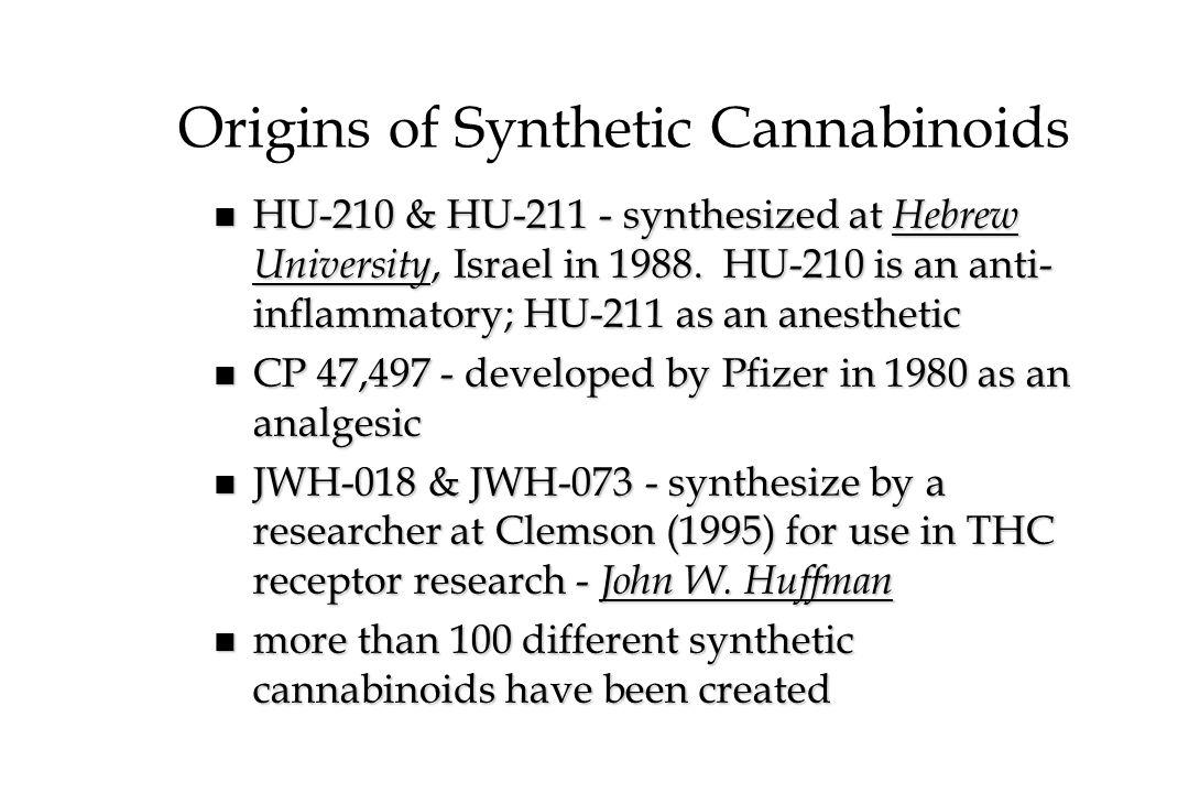 Origins of Synthetic Cannabinoids
