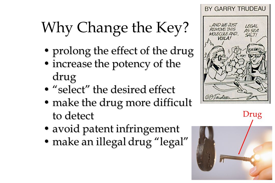 Why Change the Key prolong the effect of the drug