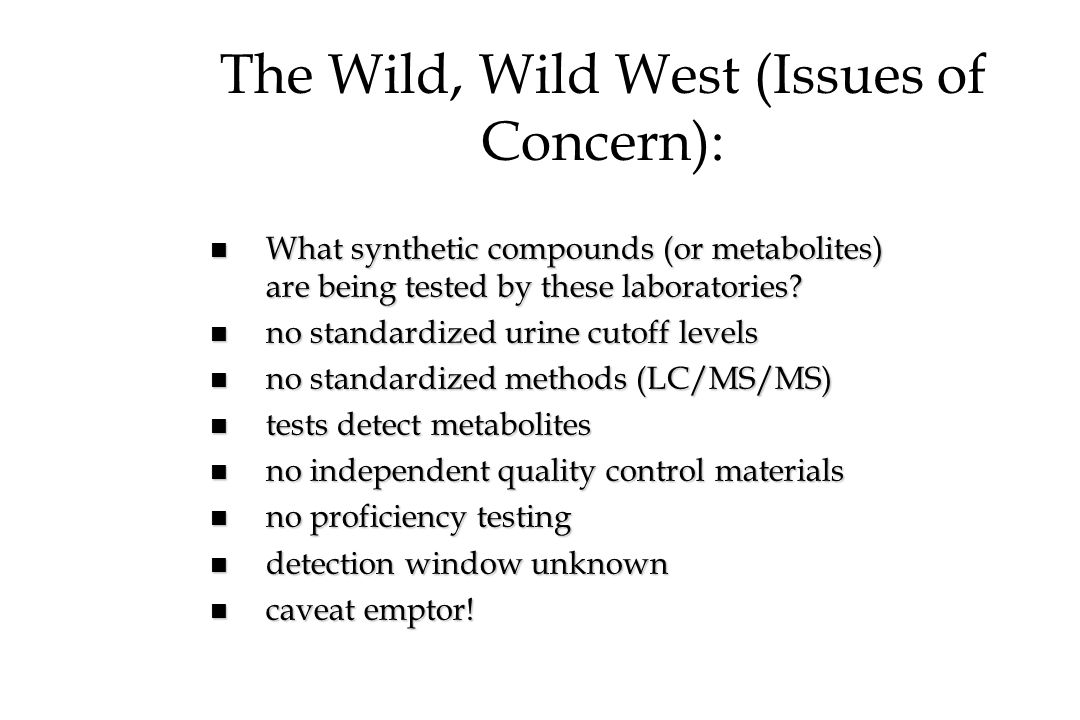 The Wild, Wild West (Issues of Concern):