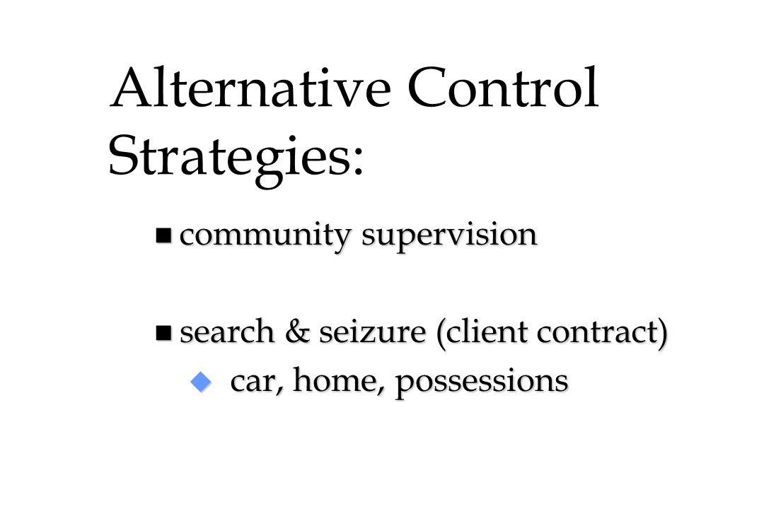 Alternative Control Strategies: