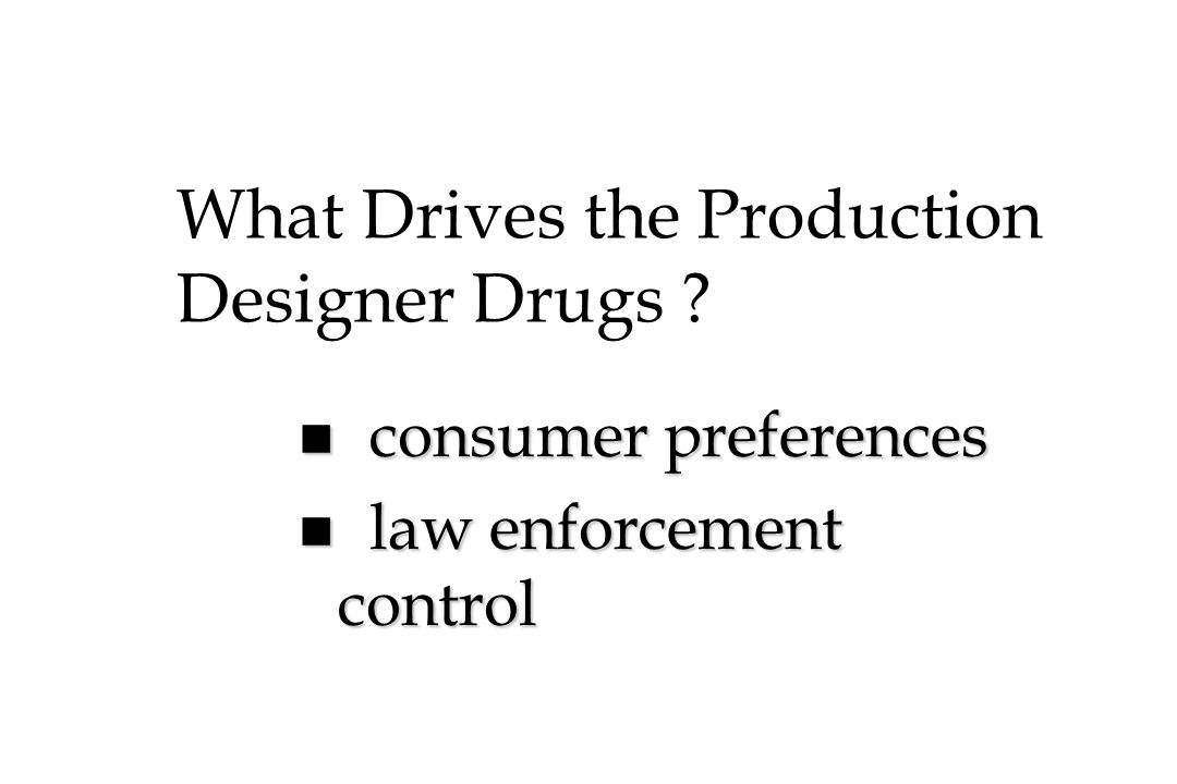 What Drives the Production Designer Drugs