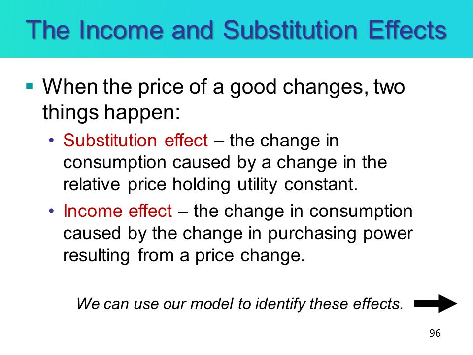The Income and Substitution Effects