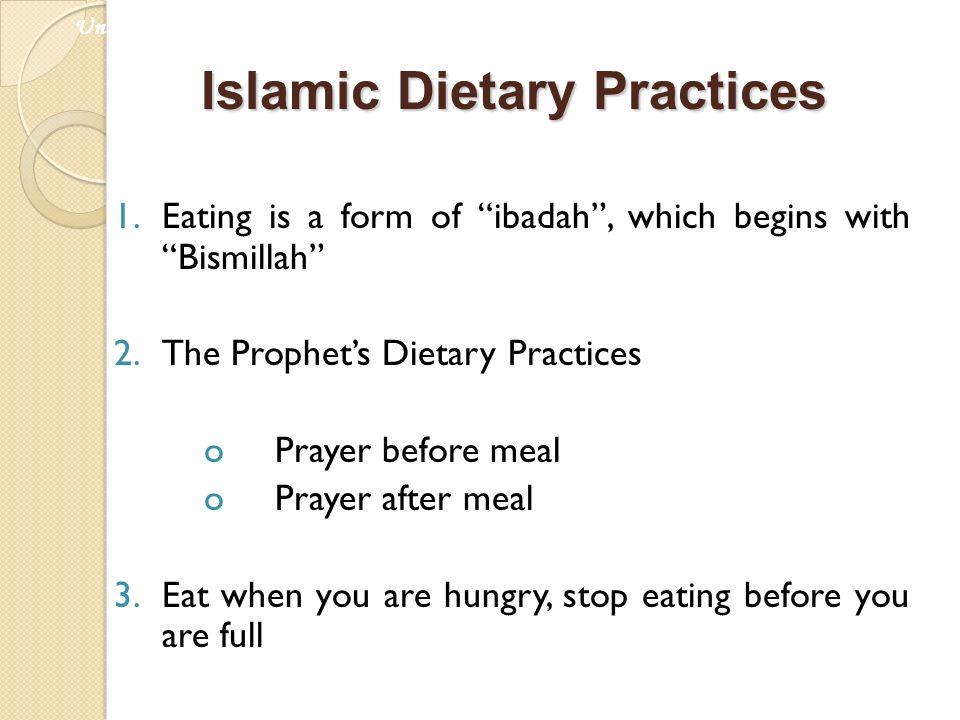 Islamic Dietary Practices