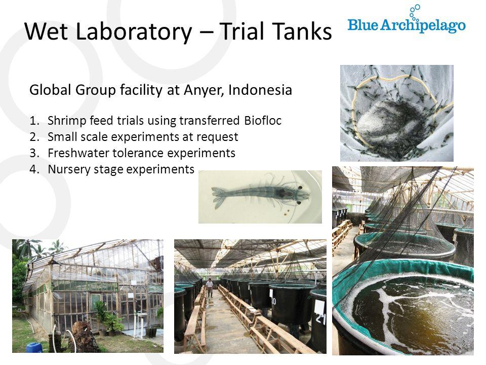 Wet Laboratory – Trial Tanks