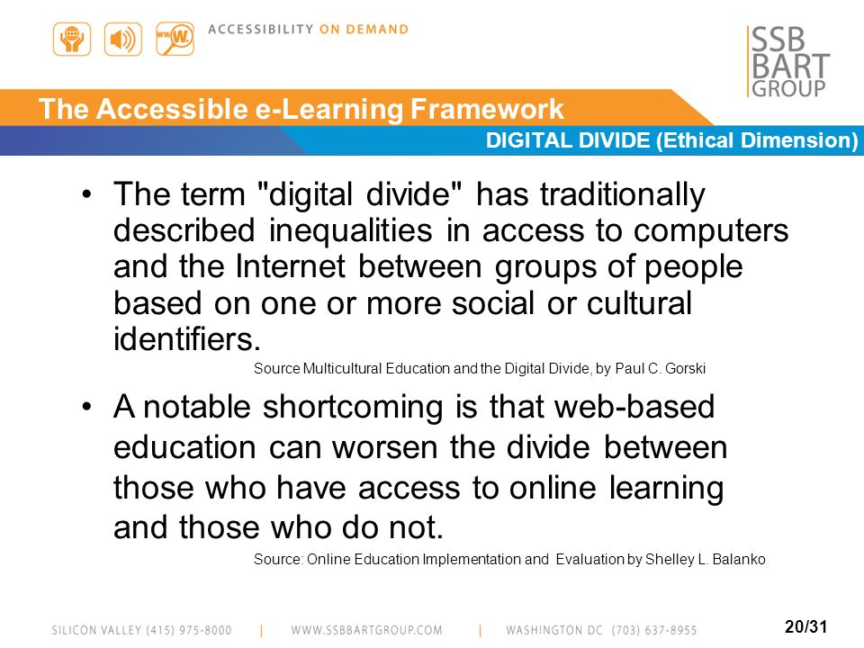 E-Learning Accessibility Issues