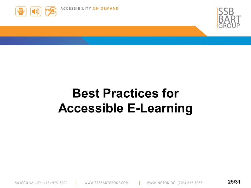 Accessible E-Learning