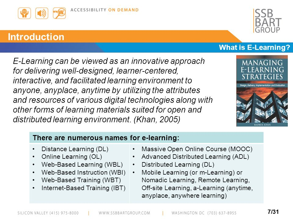Introduction What is E-Learning