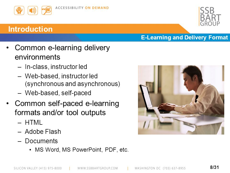 Common e-learning delivery environments