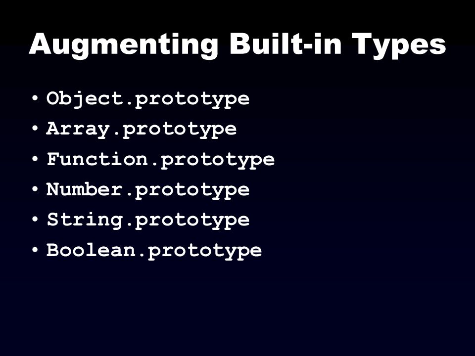 Augmenting Built-in Types