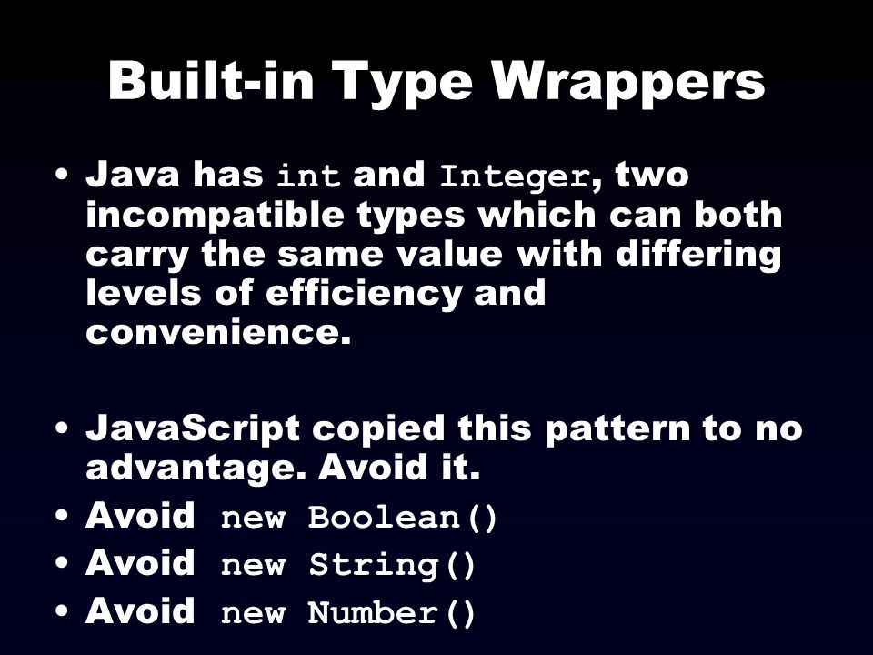 Built-in Type Wrappers